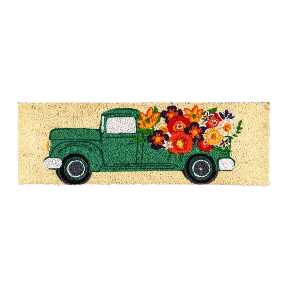 Mint Flower Truck Kensington Coir Switch Mat