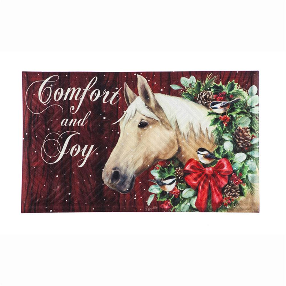 Christmas Horse Seasonal Doormat