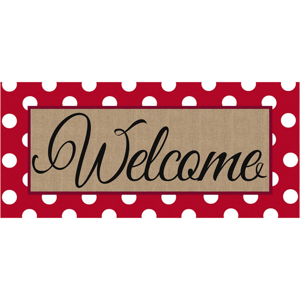 Polka Dot Welcome Sassafras Switch Mat