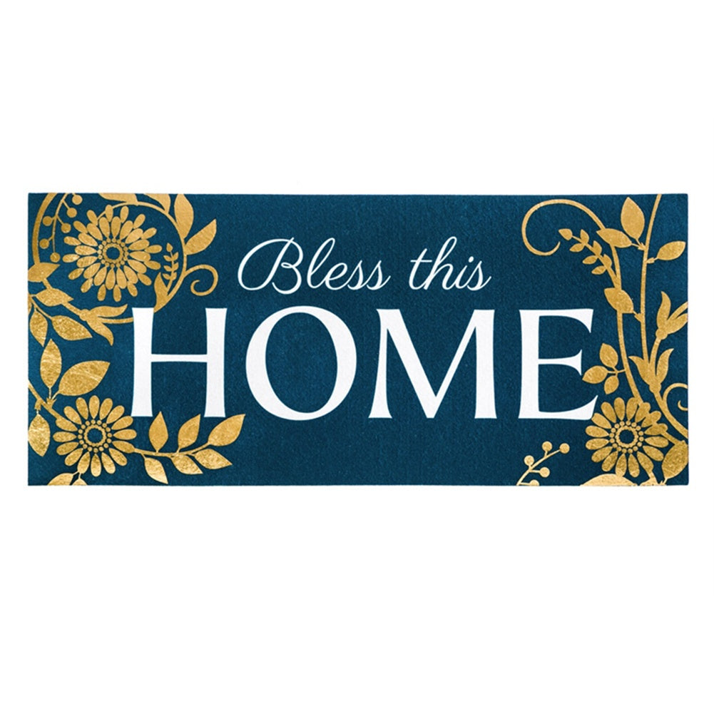 Bless This Home Floral Sassafras Switch Mat