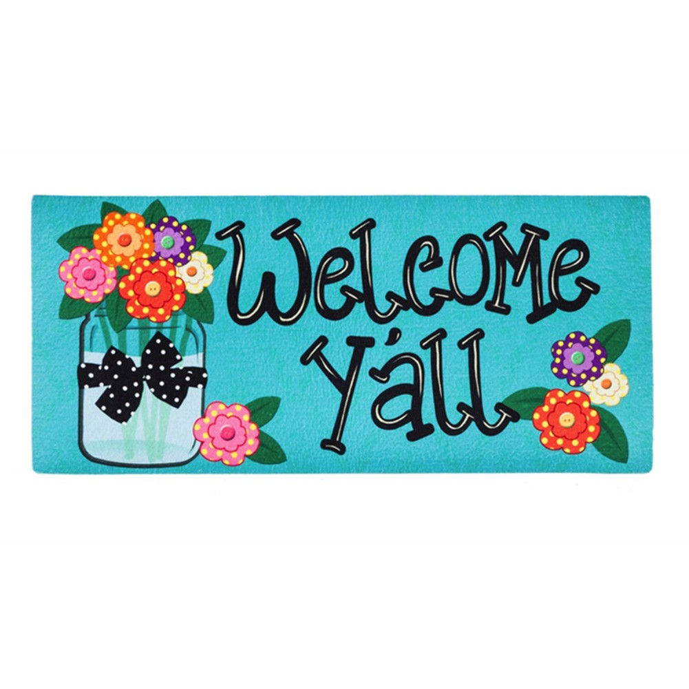 Welcome Y'All Polka Dot Sassafras Switch Mat