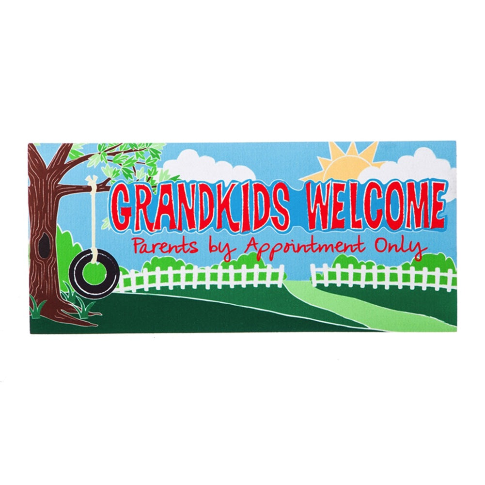 Grandkids Welcome Sassafras Switch Mat
