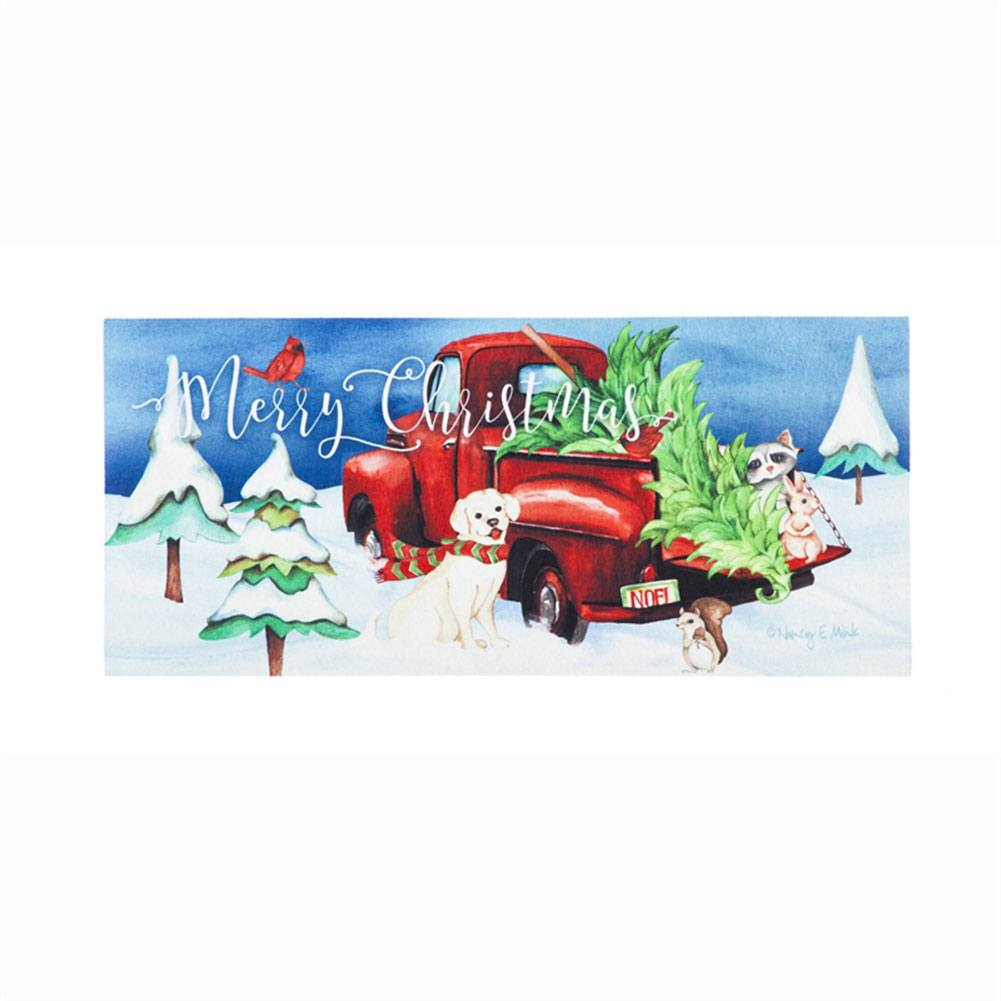 Bringing Home The Tree Christmas Sassafras Switch Mat