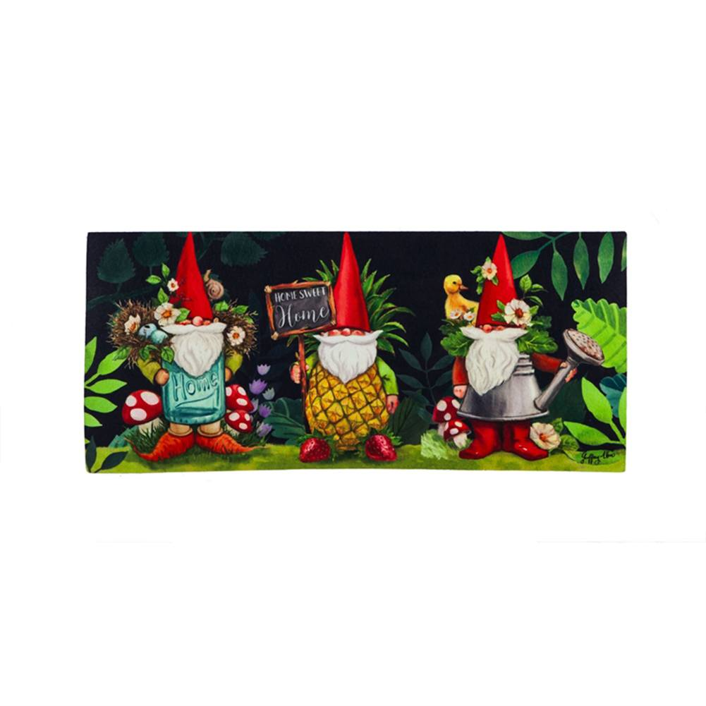 Gnomes in the Garden Sassafras Switch Mat