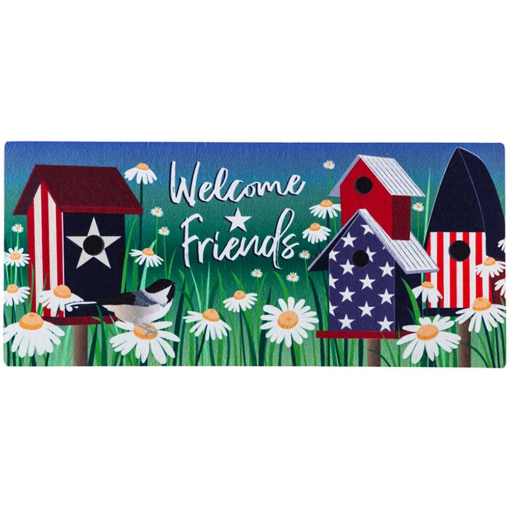 Patriotic Birdhouses Sassafras Switch Mat