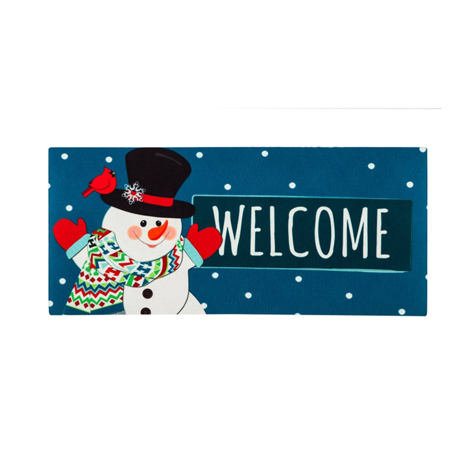 Evergreen Snowman Welcome Sassafras Switch Mat