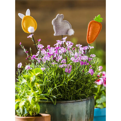 Easter Fabric Plant Sticks (3/Pack)