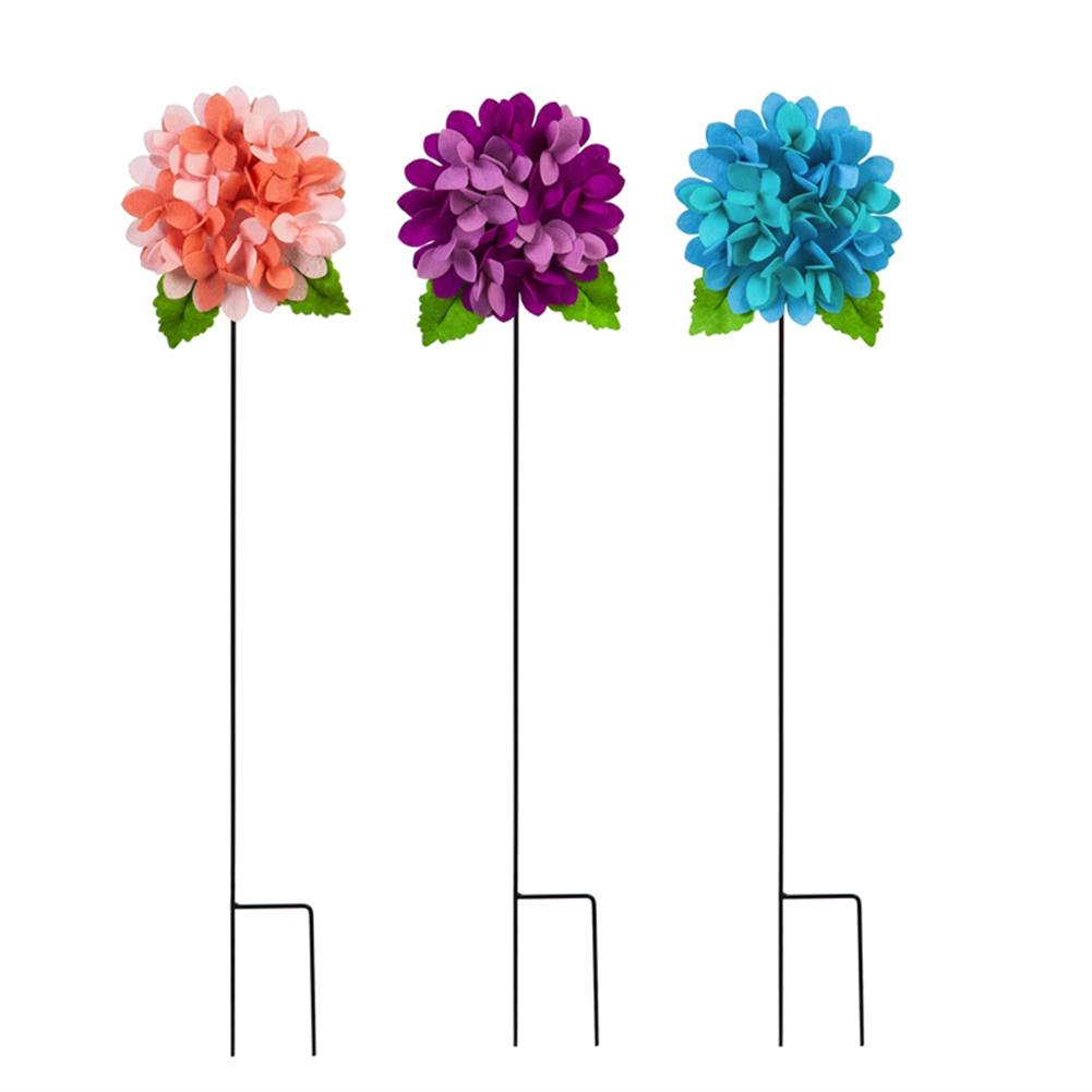 Two Tone Hydrangeas Forever Fabric Stakes (3/pack)