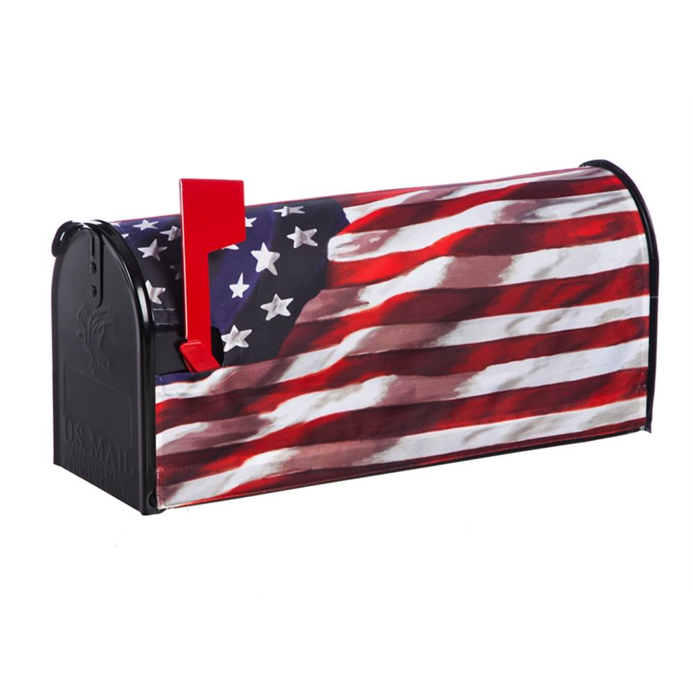 America In Motion Patriotic Mailbox Cover