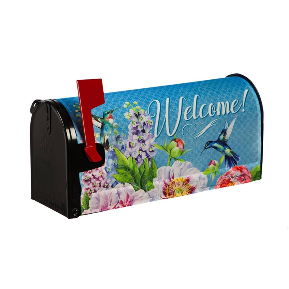 Peonies & Hummingbirds Mailbox Cover