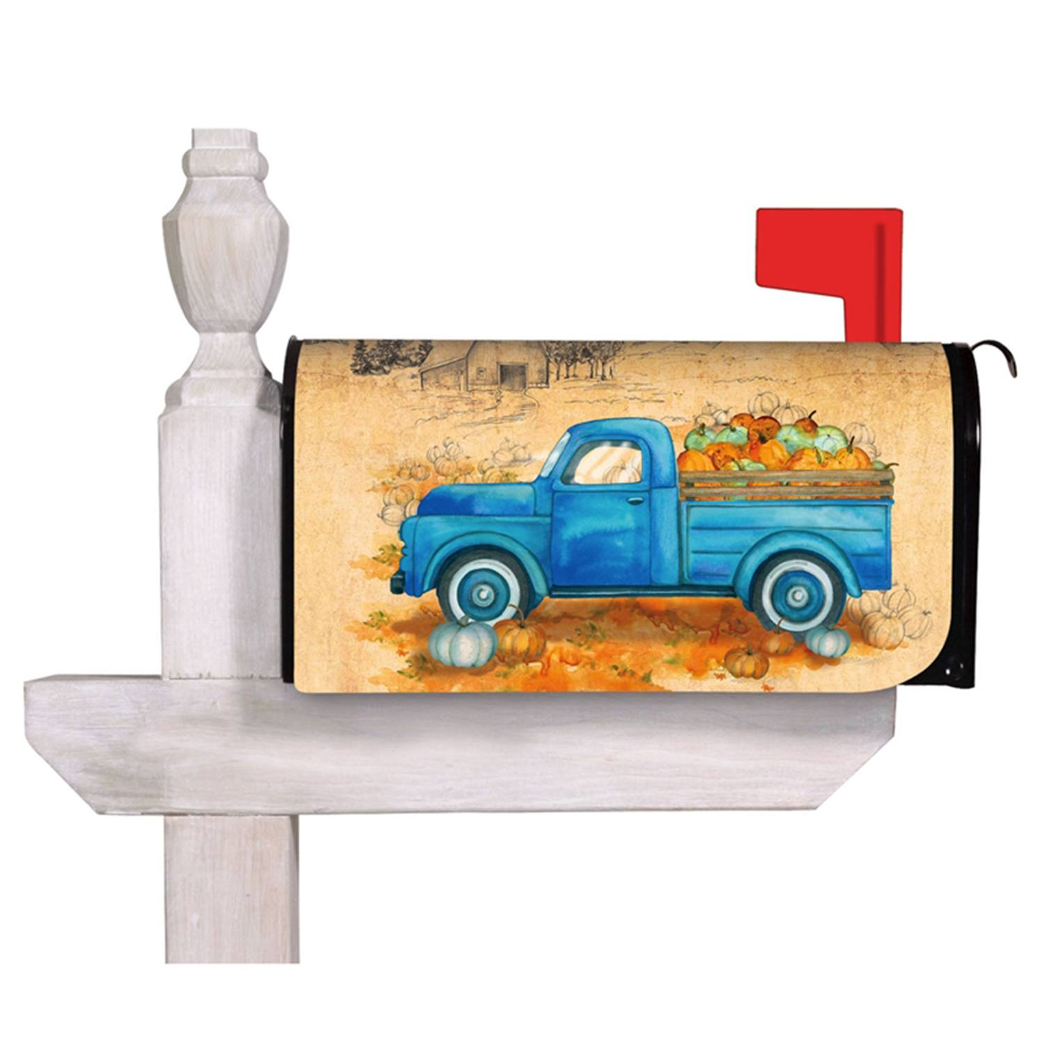 Pumpkin Farm Truck Mailbox Cover