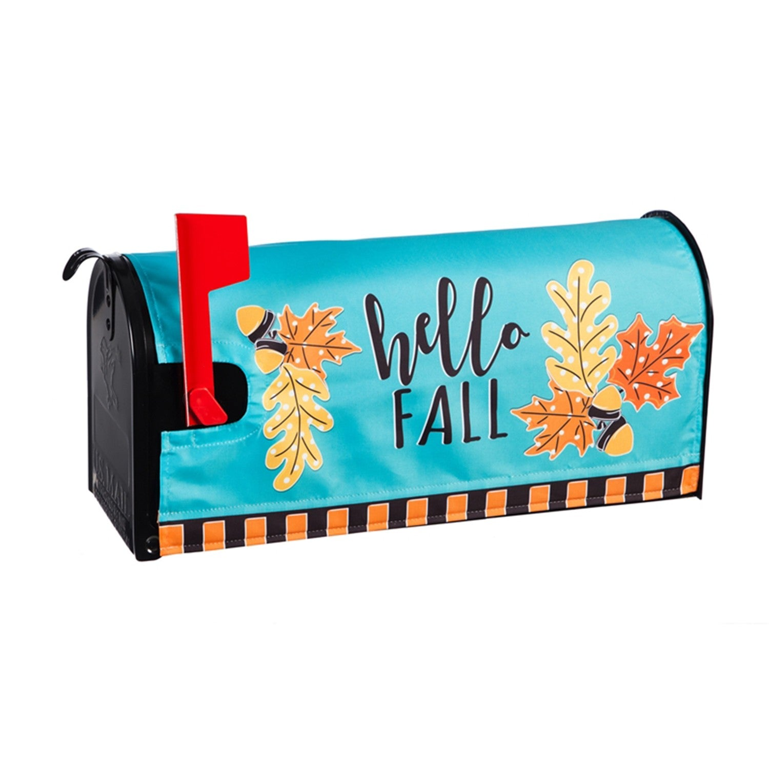 Hello Fall Leaves Mailbox Cover
