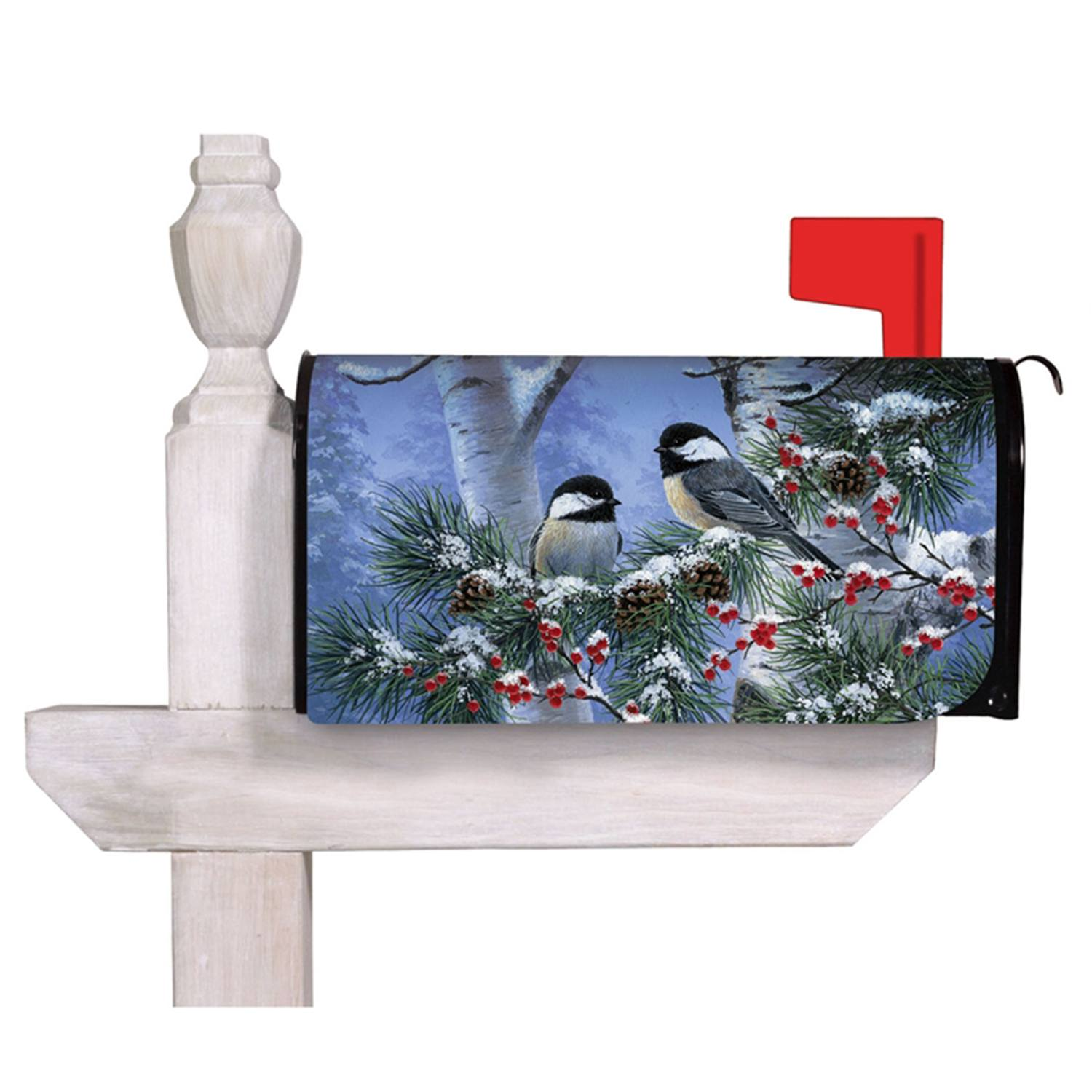 Winter Chickadee Mailbox Cover