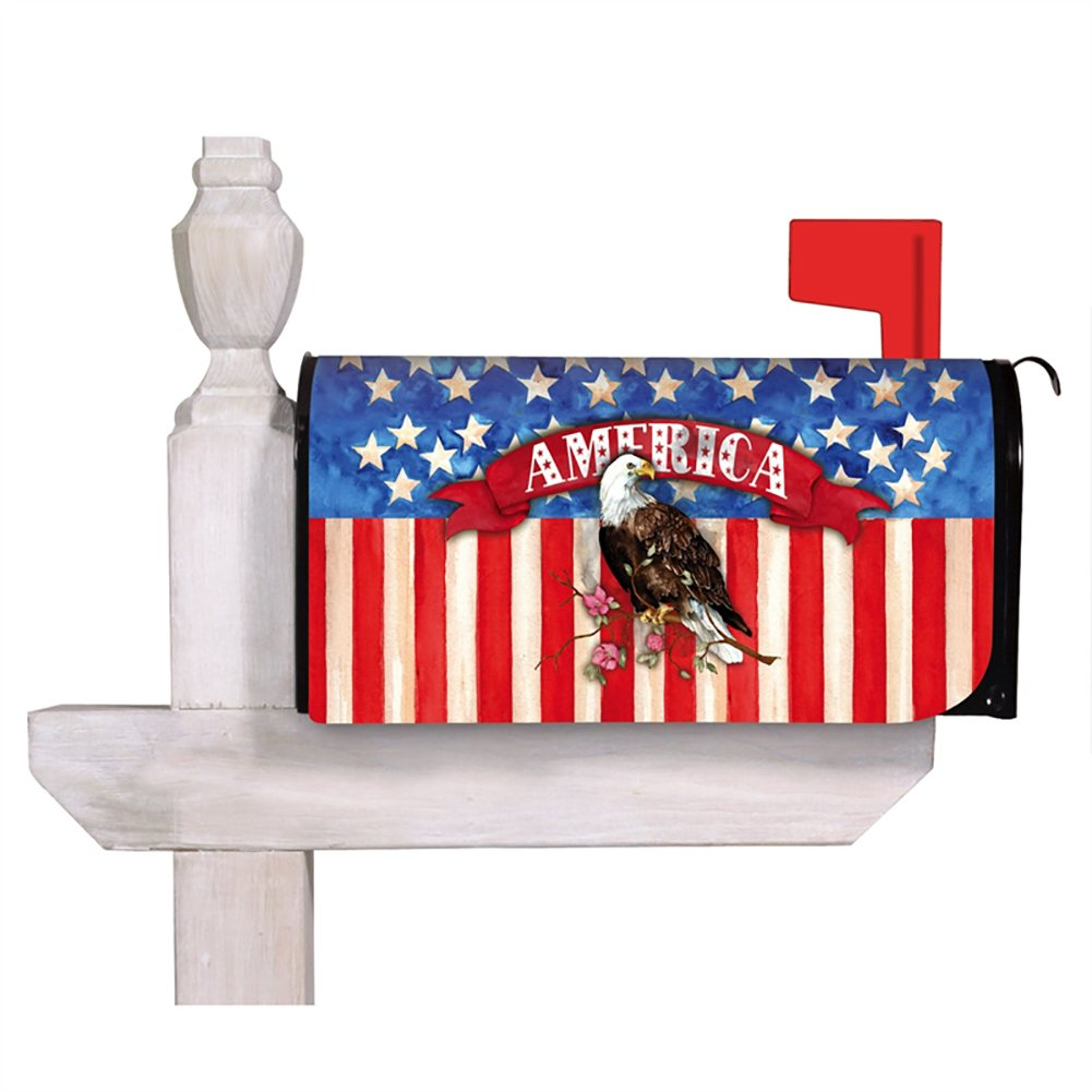 God Bless America Eagle Mailbox Cover