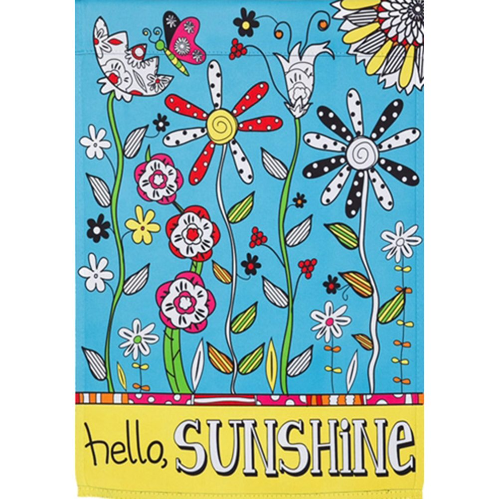 Just Add Color Garden Flag - Hello Sunshine