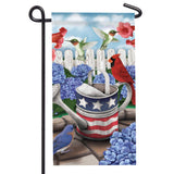 Patriotic Watering Can Mini Flag