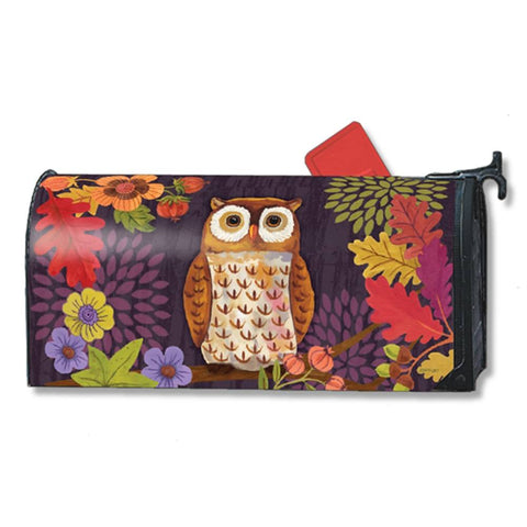 Floral Owl Leaves Mailwrap