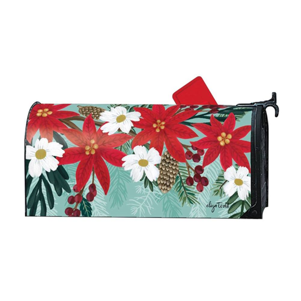 Poinsettia Bloom Mailwrap
