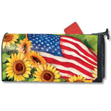 American Sunflowers Large Mailwrap