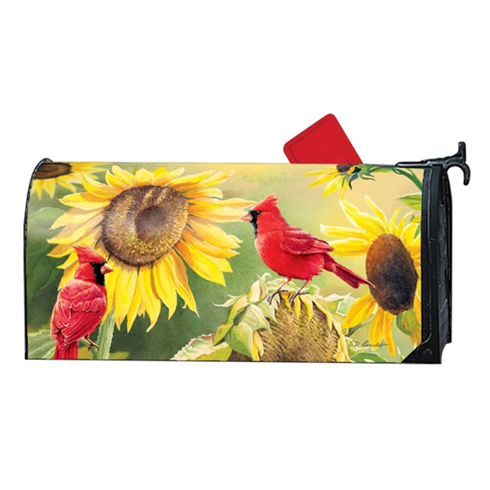 Sunflower Cardinal Large Mailwrap