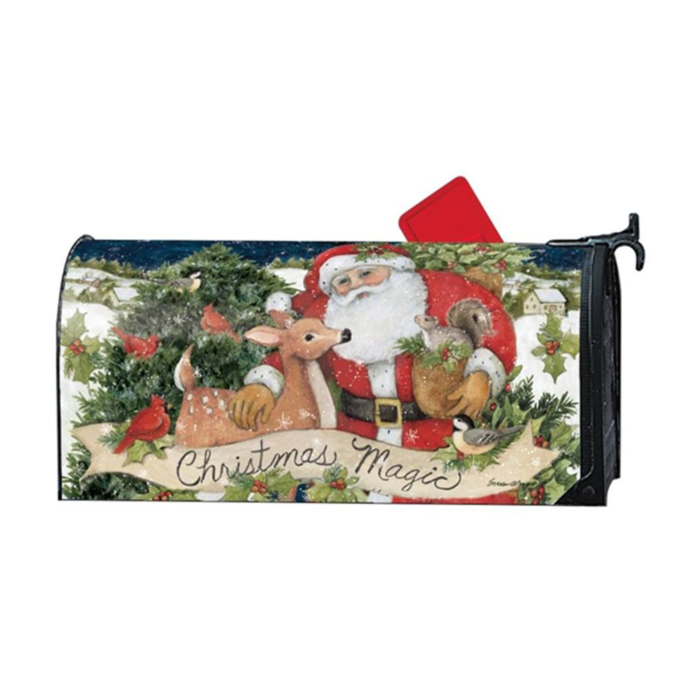 Christmas Magic Santa Friends Large Mailwrap