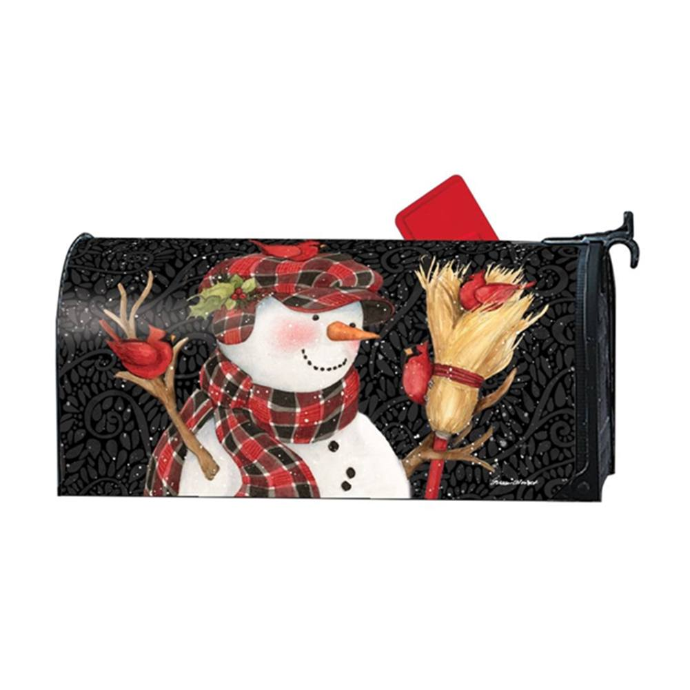 Snowman with Broom Large Mailwrap