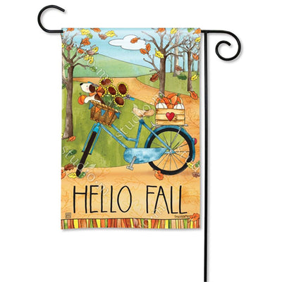Autumn Bike Ride Flags Set (2 Pieces)