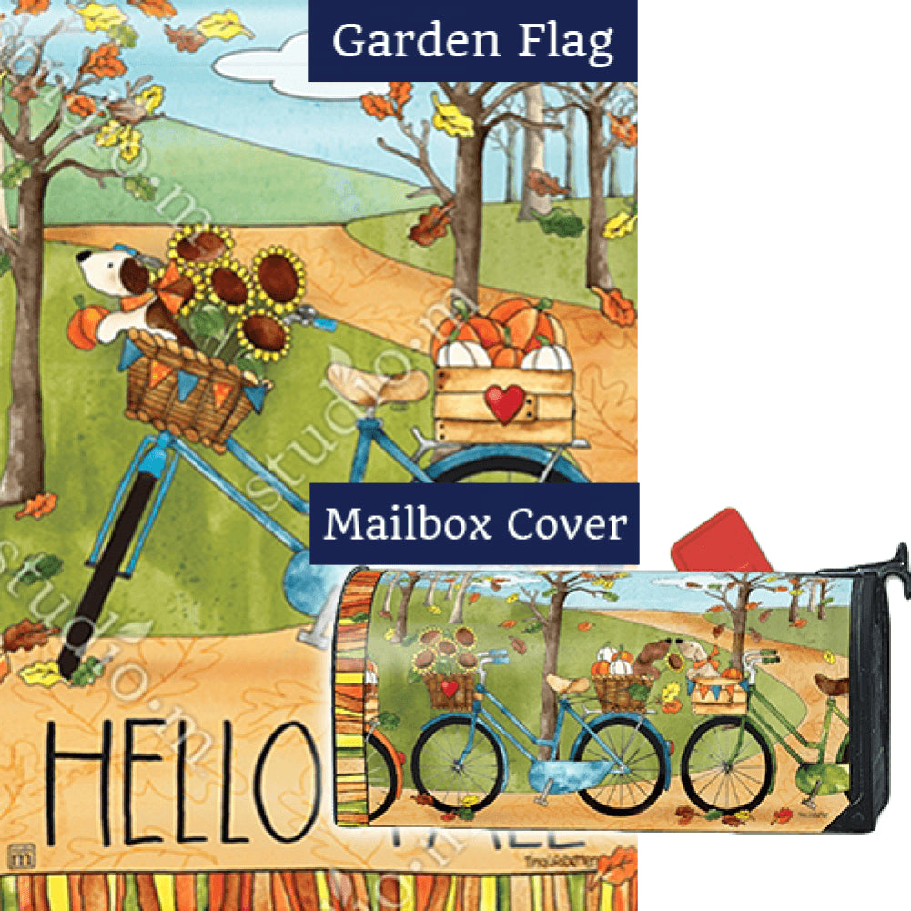 Autumn Bike Ride Flag Mailwrap Set (2 Pieces)