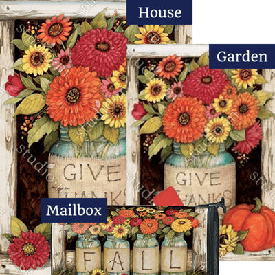 Fall Mason Jars Yard Makeover Set (3 Pieces)
