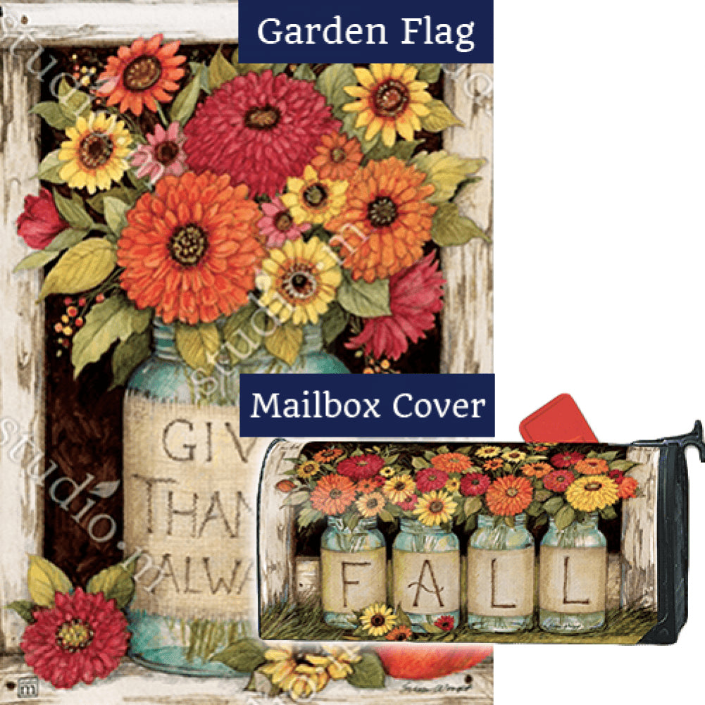 Fall Mason Jars Flag Mailwrap Set (2 Pieces)