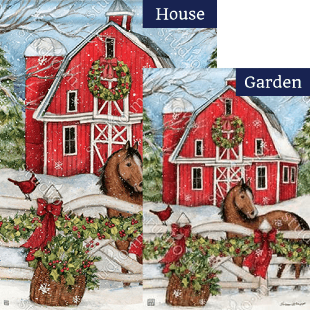 Christmas on the Farm Flags Set (2 Pieces)