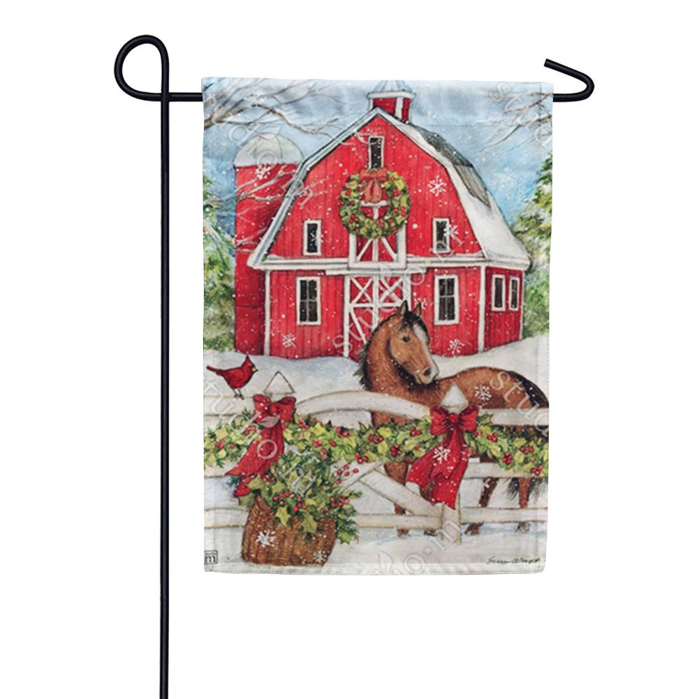 Christmas on the Farm Garden Flag
