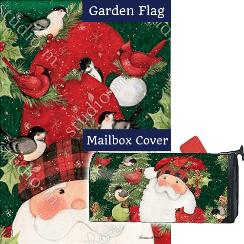 Lumberjack Santa Flag Mailwrap Set (2 Pieces)
