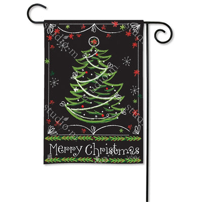 Blackboard Christmas Double Sided Flag Mailwrap Set (2 Pieces)