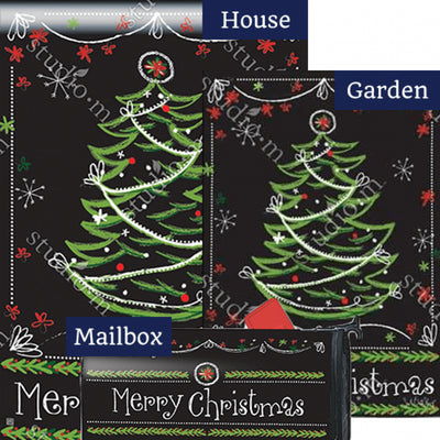 Blackboard Christmas Double Sided Yard Makeover Set (3 Pieces)