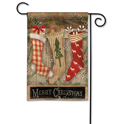 Christmas Stockings Festive Double Sided Yard Makeover Set (3 Pieces)