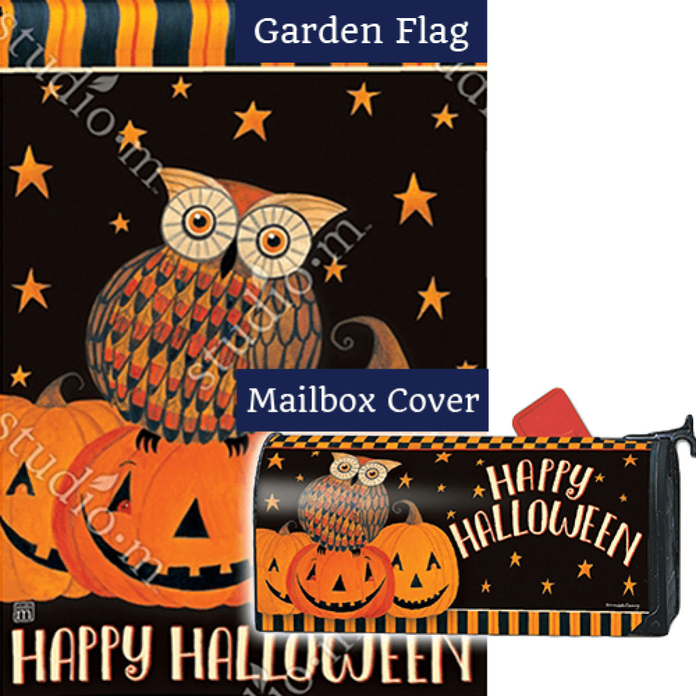 Owloween Fun Double Sided Flag Mailwrap Set (2 Pieces)