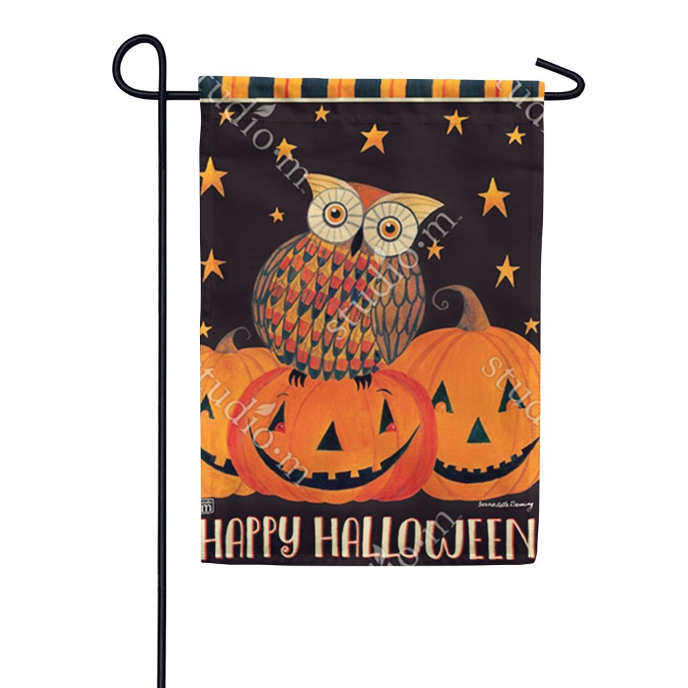 Owloween Fun Double Sided Garden Flag