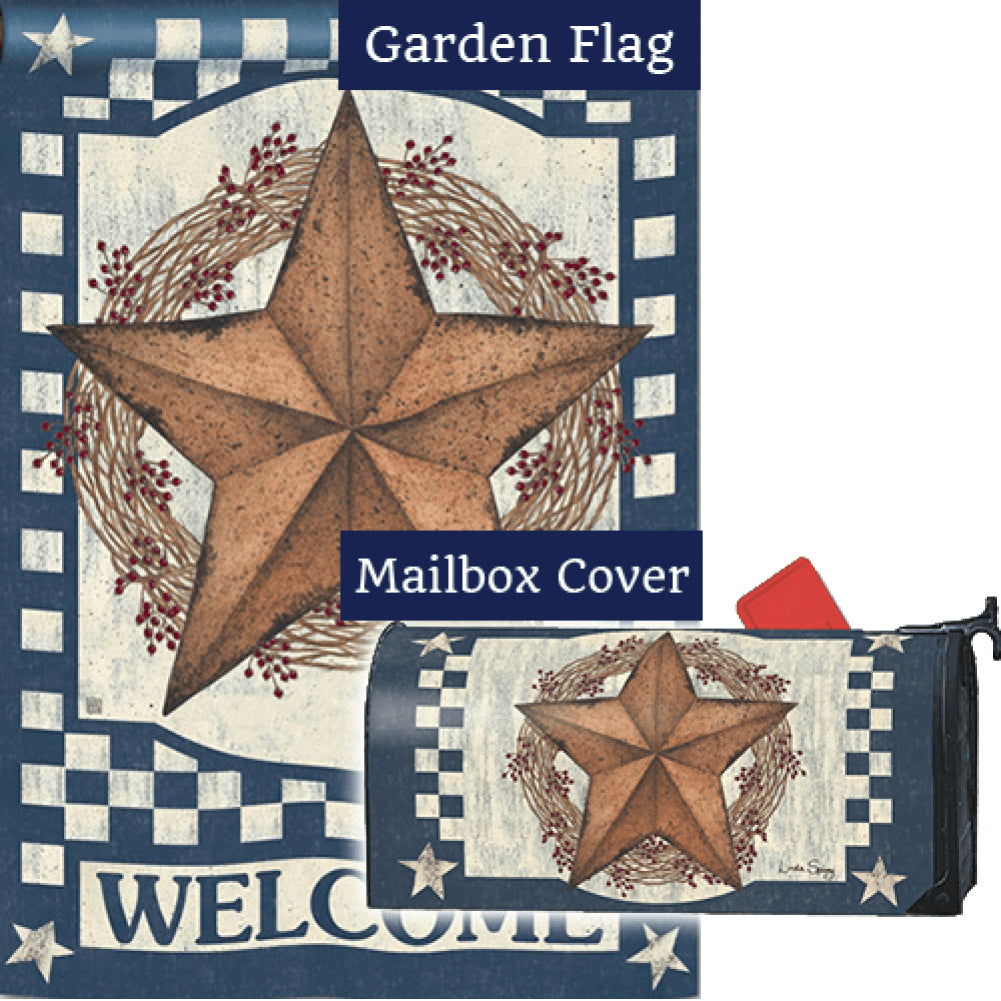 Blue Barn Star Flag Mailwrap Set (2 Pieces)