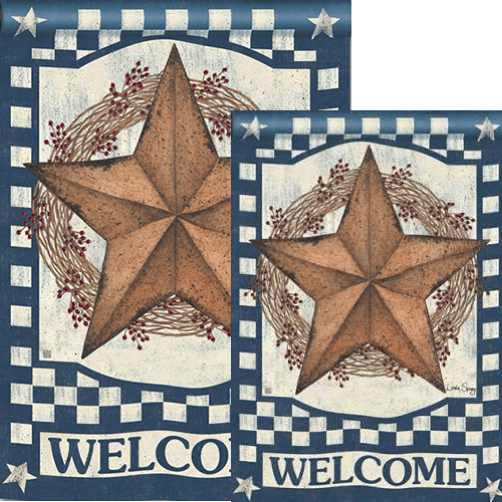 Blue Barn Star Flags Set (2 Pieces)
