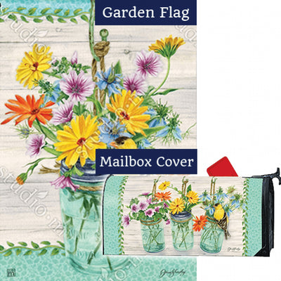 Goldfinch on Jar Flag Mailwrap Set (2 Pieces)