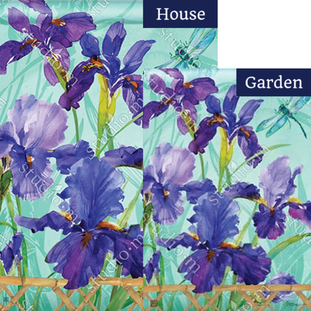 Purple Iris Flags Set (2 Pieces)