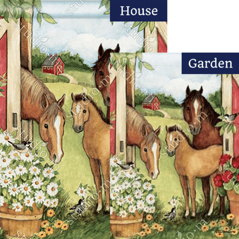 Springtime on the Farm Flags Set (2 Pieces)