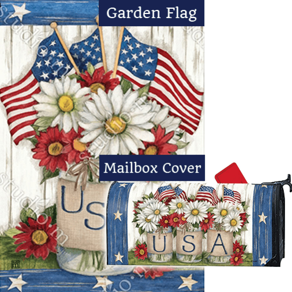 USA Mason Jar Flag Mailwrap Set (2 Pieces)