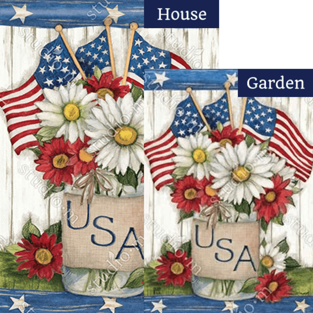 USA Mason Jar Flags Set (2 Pieces)