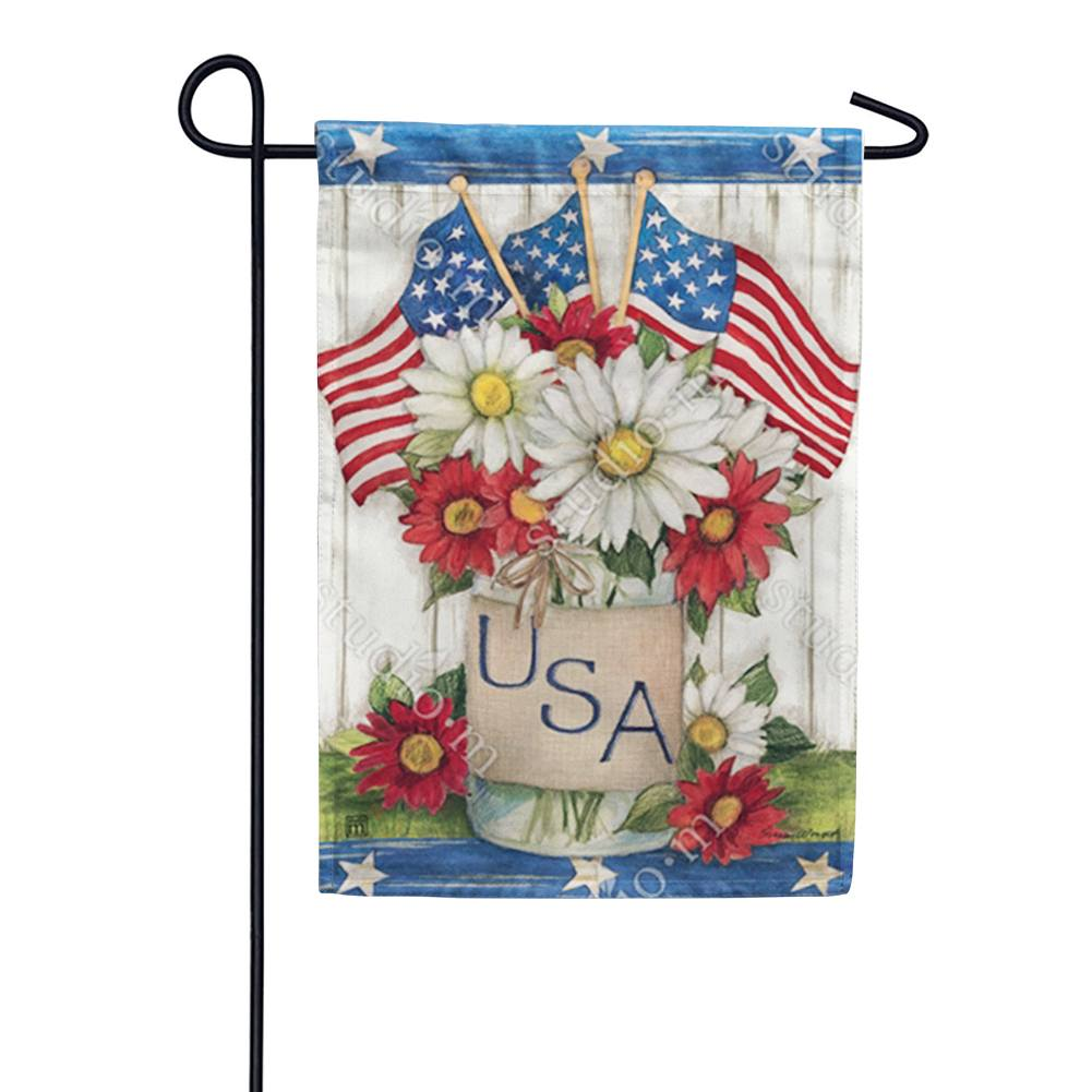 USA Mason Jar Garden Flag
