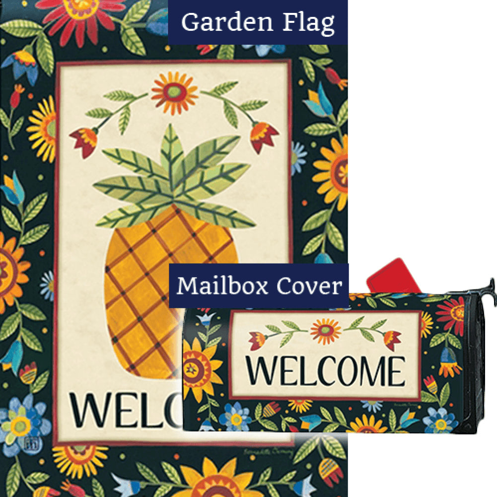 Floral Pineapple Flag Mailwrap Set (2 Pieces)