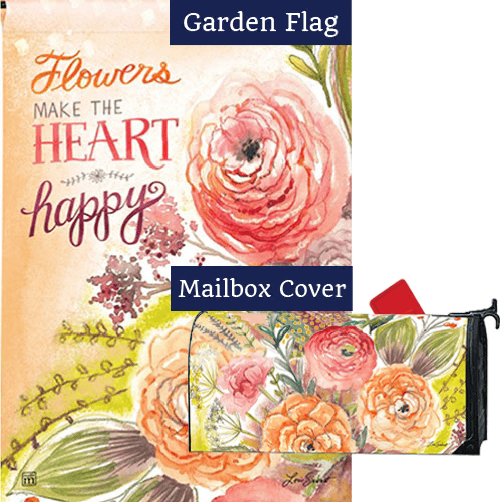 Fresh Flowers Flag Mailwrap Set (2 Pieces)