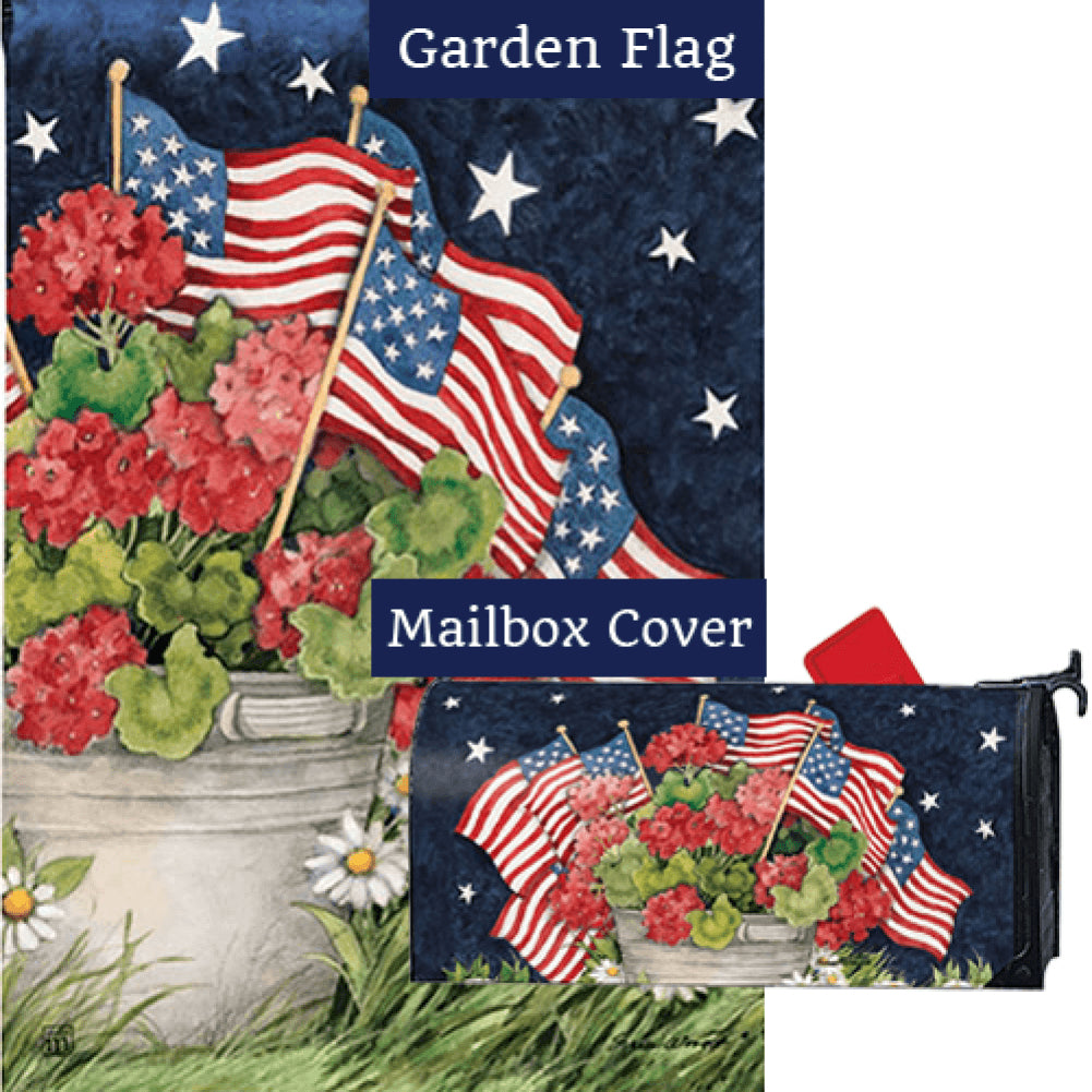 Geraniums With Flags Flag Mailwrap Set (2 Pieces)