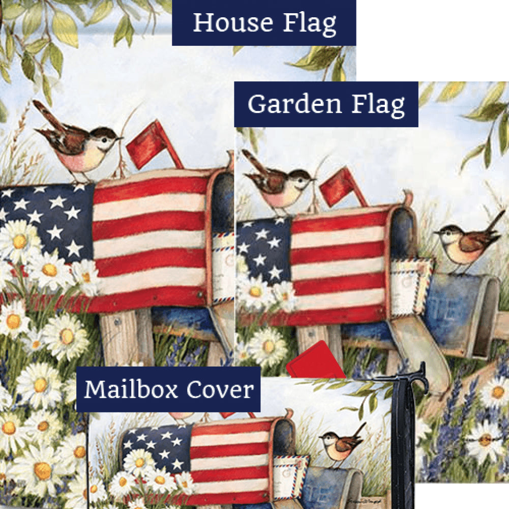 Patriotic Mailbox Yard Makeover Set (3 Pieces)